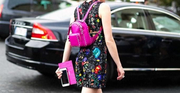 mochila rosa