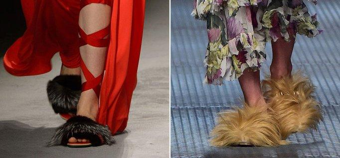 pasarela furry shoes