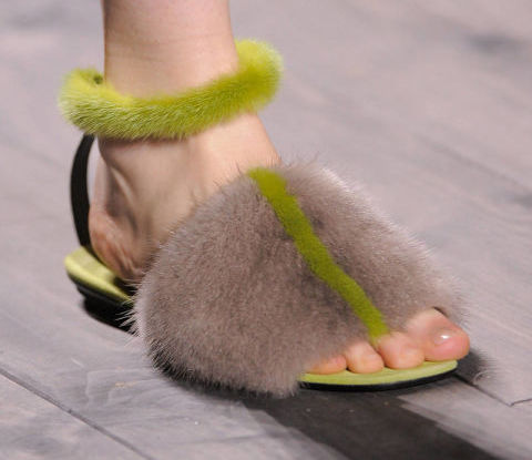 Derek Lam furry shoes