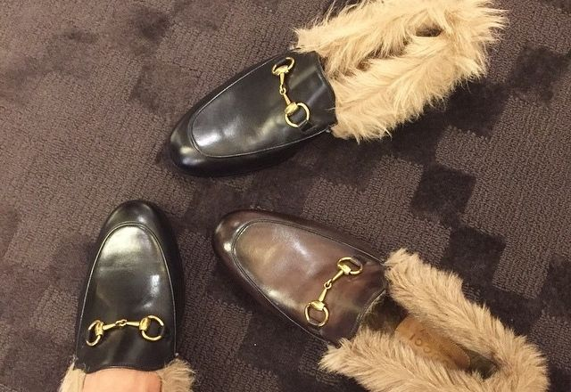 Gucci furry shoes