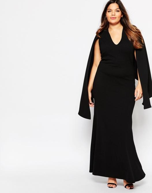 vestido negro talla grande