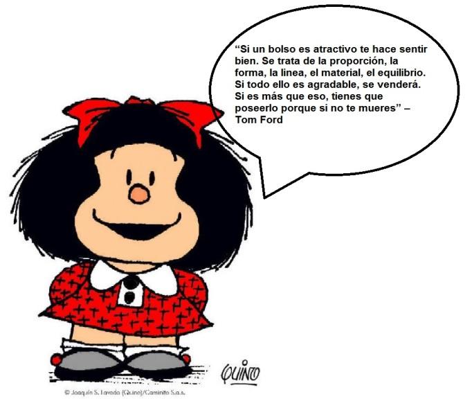 Mafalda frase de bolso