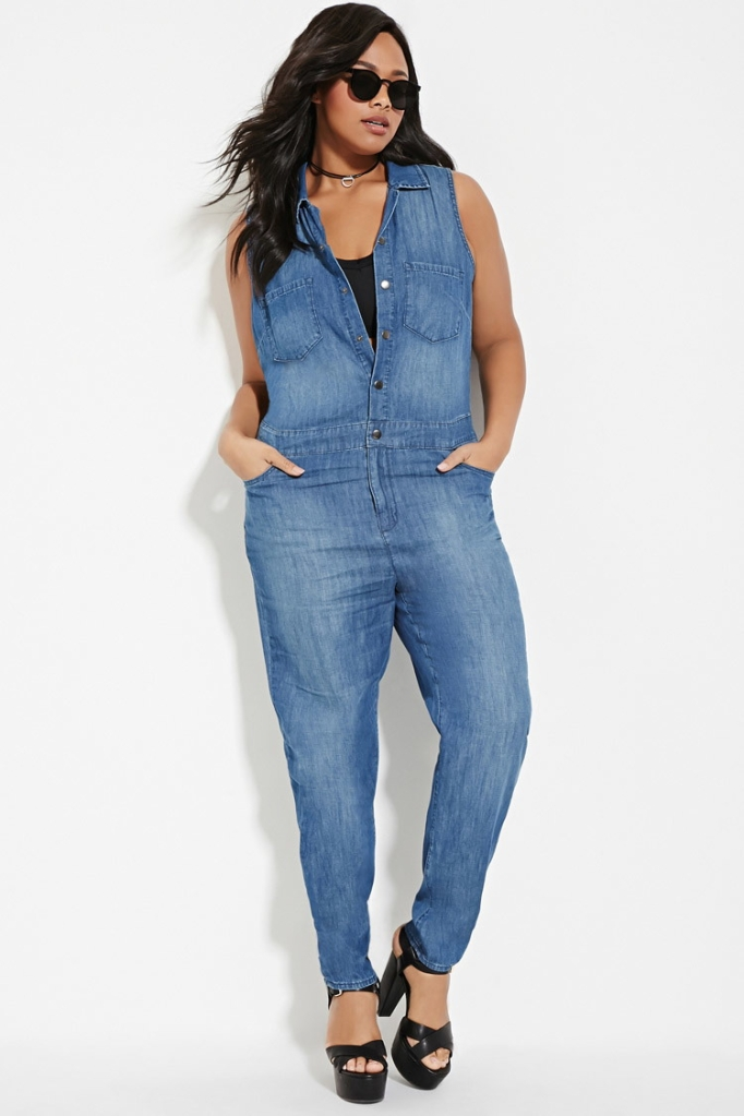 jumpsuit denim plus size