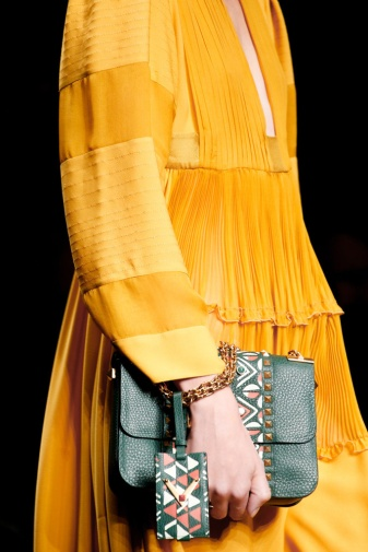 mustard dress Valentino