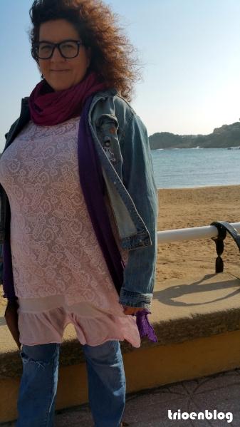 vestido plus size rosa encaje